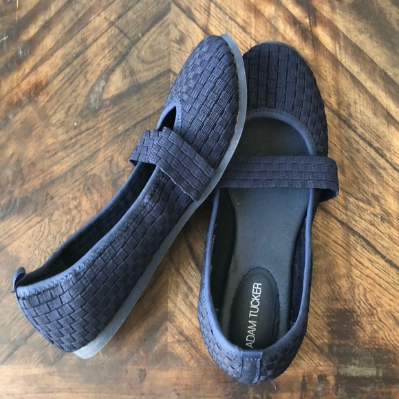 3036fc499b Adam Tucker Shoes - Adam Tucker Navy Blue Woven Slip On Flat Sz 7.5